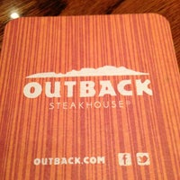 Photo taken at Outback Steakhouse by Chris M. on 2/9/2013