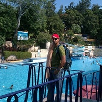 Photo taken at Balneario Agua Hedionda by Diana M. on 9/22/2012