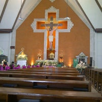 Photo taken at Gereja Katolik Redemptor Mundi by Grace L. on 10/20/2012