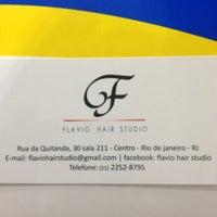 Photo taken at Flavio Hair Studio by Marco Aurélio T. on 2/8/2013