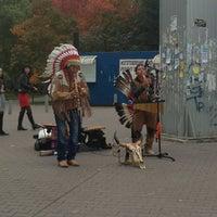 Photo taken at индеец в первомайском сквере by Emmanuelle L. on 9/24/2014