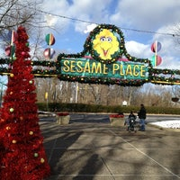 Photo taken at Sesame Place by James M. on 12/30/2012