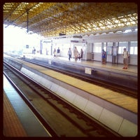 Photo taken at LRT 2 (Araneta Center-Cubao Station) by toti s. on 4/8/2013