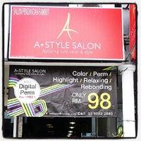 Photo taken at A Style  Hair Salon by SH L. on 7/6/2013