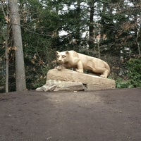 Photo taken at Nittany Lion Shrine by Kendra G. on 1/15/2013