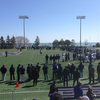 Photo taken at Northwestern Lakeside Field by Marc R. on 4/5/2014