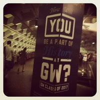 Photo taken at Foggy Bottom-GWU Metro Station by Adina L. on 4/11/2013