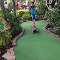 Photo taken at The Fish Hole Mini Golf by Sandra D. on 12/27/2013