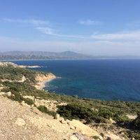 Photo taken at Fourni Beach by Dmitry K. on 5/7/2014