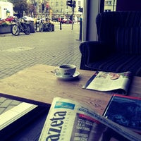 Photo taken at Green Caffè Nero by Marta M. on 10/19/2013