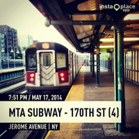 Photo taken at MTA Subway - 170th St (4) by 🔌Malectro 7. on 5/17/2014