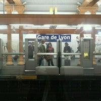 Photo taken at Métro Gare de Lyon [1,14] by KimLan H. on 4/12/2013