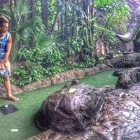 Photo taken at Dino Park Mini Golf by Nicky 🎩 S. on 10/7/2016