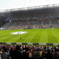Photo taken at Estádio Municipal de Braga by Rui X. on 9/19/2012