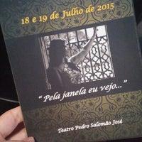 Photo taken at Teatro Pedro Salomao Jose by Joana U. on 7/19/2015