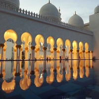 Photo taken at Sheikh Zayed Grand Mosque by Chris O. on 3/28/2013