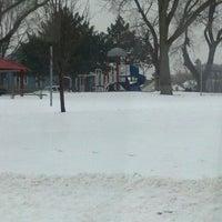 Photo taken at Pulaski Park by Nicole C. on 2/25/2013