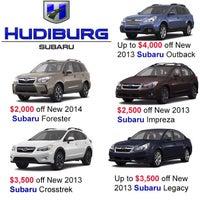 Photo taken at Hudiburg Subaru by Quinton G. on 5/1/2013