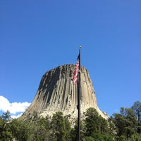 Photo taken at Devils Tower National Monument by Laurie N. on 7/17/2013