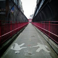 Photo taken at Williamsburg Bridge by Felio on 1/20/2013