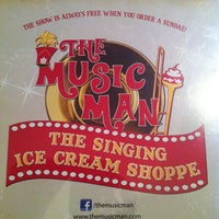 Photo taken at The Music Man Singing Ice Cream Shoppe by Tina F. on 7/21/2013