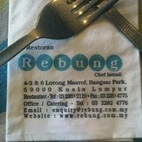 Photo taken at Restoran Rebung Chef Ismail by Fariq I. on 12/15/2012