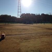 Photo taken at 花輪グラウンド by Hiroyuki K. on 11/22/2013