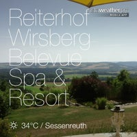 Photo taken at Reiterhof Wirsberg Belevue Spa & Resort by Mark B. on 7/28/2013