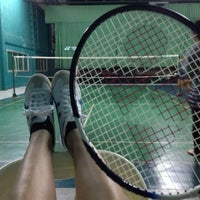 Photo taken at CC Badminton Court by Squeeze B. on 7/16/2014