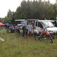 Photo taken at Viesītes Moto Trase by Gatis on 8/17/2013