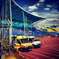 Photo taken at Central Stadium by Sergei M. on 7/25/2013