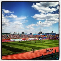 Photo taken at Central Stadium by Sergei M. on 7/21/2013