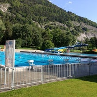 Photo taken at Freibad Obere Au by Fortunat S. on 6/6/2013