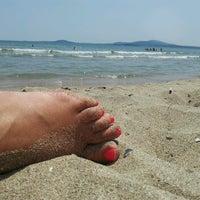 Photo taken at Южен плаж Бургас (South Beach) by Tomas .. on 6/29/2013