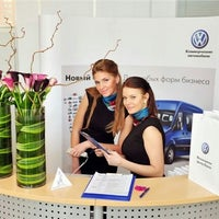 Photo taken at Volkswagen Центр Лахта by Katia K. on 9/25/2012