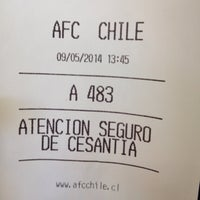 Photo taken at AFC chile by Pablo S. on 5/9/2014
