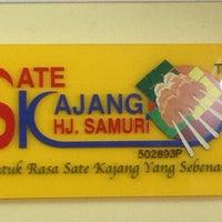 Photo taken at Sate Kajang Haji Samuri by Ikram B. on 2/12/2013