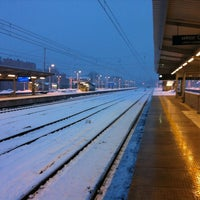 Photo taken at Warsaw East Railway Station by Max B. on 3/31/2013