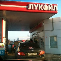 Photo taken at АЗС Лукойл №16001 by Diana i. on 12/17/2012