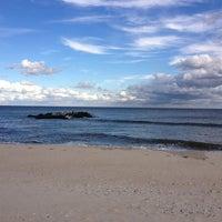 Photo taken at Belmar Beach by Ekaterina A. on 10/12/2012