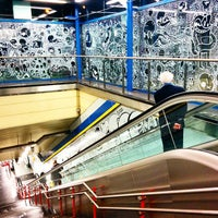 Photo taken at Metro Moncloa by Jose M. on 11/26/2014