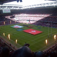 Photo taken at Principality Stadium by Abigail L. on 2/2/2013