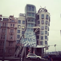 Photo taken at Dancing House by Katherina M. on 2/13/2013