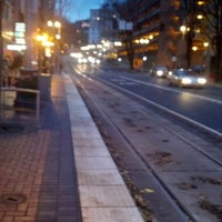 Photo taken at TriMet PSU/SW 6th & Montgomery MAX Station by Allie F. on 12/7/2012