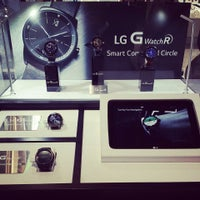 Photo taken at LG Electronics Booth   Halle 11.2 Stand 101 by Semih Emre O. on 9/10/2014