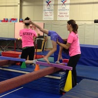 Photo taken at Jean's Gymnastics by Timothy D. on 10/30/2012