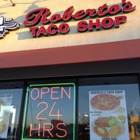 Photo taken at Roberto's Taco Shop by Rob M. on 10/14/2012