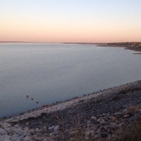 Photo taken at Dam Over Lake Grapevine by Andrew S. on 3/30/2014