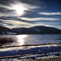 Photo taken at Lake Abant by Serkan O. on 12/27/2012