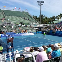 Photo taken at Delray Beach International Tennis Championships (ITC) by Jeremy O. on 2/21/2014
